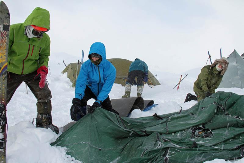 Snøhuuletur for eldre speidere